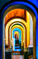 """Unique View through Medieval Arches of the Cathedral of Sorrento""…<br />