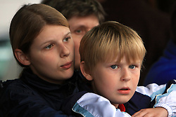 Mother and her child looking the riders in last 4th stage of the 15th Tour de Slovenie from Celje to Novo mesto (157 km), on June 14,2008, Slovenia. (Photo by Vid Ponikvar / Sportal Images)/ Sportida)