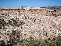 View of Fez medina, Morocco.
