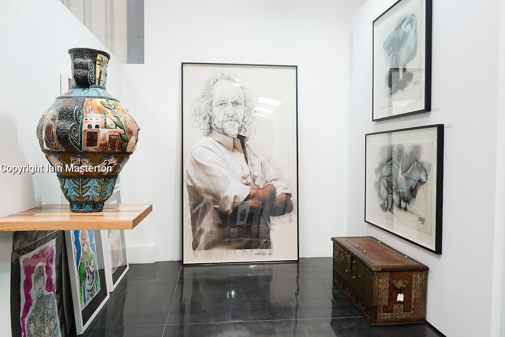 Showcase art gallery in warehouse in Alserkal Avenue arts district in Al Quoz in Dubai United Arab Emirates