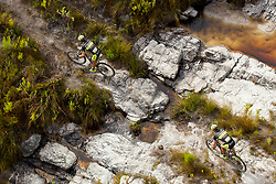Alban Lakata and Kristian Hynek of team Topeak Ergon Racing 1 during stage 1 of the 2017 Absa Cape Epic Mountain Bike stage race held from Hermanus High School in Hermanus, South Africa on the 20th March 2017<br /> <br /> Photo by Greg Beadle/Cape Epic/SPORTZPICS<br /> <br /> PLEASE ENSURE THE APPROPRIATE CREDIT IS GIVEN TO THE PHOTOGRAPHER AND SPORTZPICS ALONG WITH THE ABSA CAPE EPIC<br /> <br /> ace2016