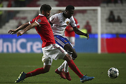 December 5, 2017 - Lisbon, Portugal - Lisandro Lopez, Dimitri Oberlin. Benfica received FC Basel this evening at Estádio da Luz in the game to count for 6th day of the group stage of the Champions League 2017/2018. Lisandro Lopez, Dimitri Oberlin  (Credit Image: © Atlantico Press via ZUMA Wire)