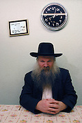Rabbi Herschel Gluck of Walford Road synagogue, Stamford Hill, London.  He is a key figure in the local Hasidic Jewish community and chairman of the Muslim - Jewish forum.