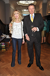 RICHARD & BASIA BRIGGS at a reception to unveil the Limited Centenary Edition of Sir George Frampton's statuette of Peter Pan in aid of the Moat Brae Charity held at The Fine Art Society, 148 New Bond Street, London on 1st May 2012.