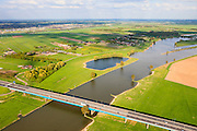 Nederland, Utrecht, Gemeente Gorinchem, 09-05-2013; Hagesteinsebrug over de Lek,  Rijksweg 27. Lekbrug A27.<br /> Bridge over river Lek, near Utrecht.<br /> luchtfoto (toeslag op standard tarieven);<br /> aerial photo (additional fee required);<br /> copyright foto/photo Siebe Swart.