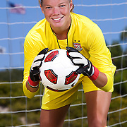 Jane Campbell, goalkeeper on the National Under 17 soccer team. Photographed for Sports Illustrated.