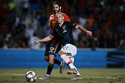 September 11, 2018 - Elche, Alicante, Spain - Domagoj Vida (C) of Croatia competes for the ball with Isco Alarcon of Spain during the UEFA Nations League A group four match between Spain and Croatia at Manuel Martinez Valero on September 11, 2018 in Elche, Spain  (Credit Image: © David Aliaga/NurPhoto/ZUMA Press)