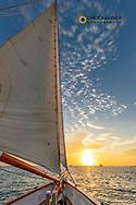 Sunset sail on schooner America 2.0 in Key West, Florida, USA