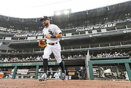 CHICAGO - APRIL 08:  Adam Eaton #12 of Chicago White Sox runs out onto the field prior to the 2021 White Sox home opener against the Kansas City Royals on April 8, 2021 at Guaranteed Rate Field in Chicago, Illinois.  (Photo by Ron Vesely) Subject:  Adam Eaton