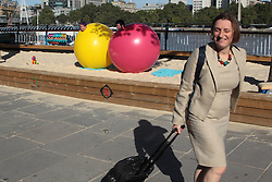 A passer-by laughing at New York clown duo Acrobuffos performing part of Air Play, which will be performed as part of Southbank Centre's Festival of Love from August 9 to 14. The duo, Seth Bloom and Christina Gelsone, will be performing displays with flying umbrellas, balloons and kites.