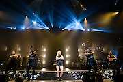 "Photos of the musician Ellie Goulding performing live on stage for the ""Delirium World Tour"" at Madison Square Garden, NYC on June 21, 2016. © Matthew Eisman/ Getty Images. All Rights Reserved"
