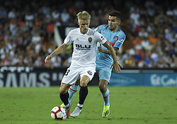 August 20, 2018 - Wass of Valencia and Correa  of Atletico de Madrid in action during the spanish league, La Liga, football match between ValenciaCF and Atletico de Madrid on August 20, 2018 at Mestalla stadium in Valencia, Spain. (Credit Image: © AFP7 via ZUMA Wire)