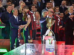 May 9, 2018 - Rome, Italy - Leonardo Bonucci after the Tim Cup Final football match F.C. Juventus vs A.C. Milan at the Olympic Stadium in Rome, on May 09, 2018  (Credit Image: © Silvia Lore/NurPhoto via ZUMA Press)