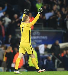 Joe Hart of Manchester City celebrates at full time - Mandatory byline: Matt McNulty/JMP - 07966386802 - 12/04/2016 - FOOTBALL - Etihad Stadium -Manchester,England - Manchester City v Paris Saint-Germain - UEFA Champions League - Quarter Final Second Leg