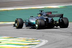 November 12, 2017 - Sao Paulo, Sao Paulo, Brazil - 44 LEWIS HAMILTON, of Mercedes AMG Petronas, drives during the Formula One Grand Prix of Brazil at Interlagos circuit, in Sao Paulo, Brazil on November 12, 2017. (Credit Image: © Paulo Lopes via ZUMA Wire)
