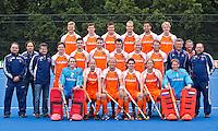 UTRECHT - Het Nederlands mannen hockeyteam voor de Olympische Spelen in London 2012.  FOTO KOEN SUYK