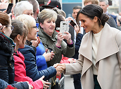 Prince Harry and Meghan Markle visit the Crown Liquor Saloon and meet the people of Belfast in Northern Ireland, UK, on the 23rd March 2018. 23 Mar 2018 Pictured: Meghan Markle. Photo credit: MEGA TheMegaAgency.com +1 888 505 6342