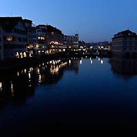 Night watch on the Canal, Zurich Switzerland