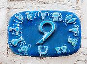 Ceramic numbers the number Nine