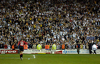 Fotball<br /> England 2004/2005<br /> Foto: SBI/Digitalsport<br /> NORWAY ONLY<br /> <br /> Derby County v Preston North End<br /> <br /> 19/05/2005.<br /> Coca-Cola Championship Play Offs, Second Leg. <br /> <br /> Preston keeper Carlo Nash runs to celebrate with the Preston fans after they reach the play off final