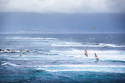 Windsurfing at Ho'okipa Beach Park