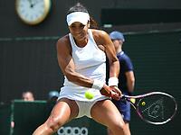 Tennis - 2019 Wimbledon Championships - Week One, Wednesday (Day Three)<br /> <br /> Women's singles, 2nd Round: Heather Watson (GBR) v Anett Kontaveit (EST)<br /> <br /> Heather Watson  (GBR)  on  Court 1<br /> <br /> COLORSPORT/ANDREW COWIE