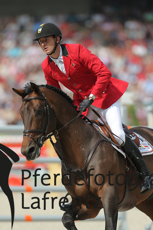 Wathelet, Gregory, Conrad de Hus<br /> Normandie - WEG 2014<br /> Springen - Finale III<br /> © www.sportfotos-lafrentz.de/ Stefan Lafrentz