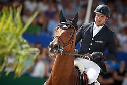 Duguet Romain, SUI, Sherazade du Gevaudan<br /> Rolex Grand Prix CSI 5* - Knokke 2017<br /> © Dirk Caremans<br /> 09/07/17