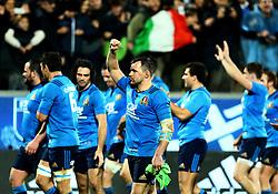 November 19, 2016 - Rome, Italy - Italy celebrating the victory  during the international match between Italy v South Africa at Stadio Olimpico on November 19, 2016 in Rome, Italy. (Credit Image: © Matteo Ciambelli/NurPhoto via ZUMA Press)