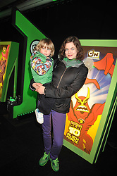 JASMINE GUINNESS and her son OTIS at the premier of Ben Ten Alien Force at the Old Billingsgate Market, City of London on 15th February 2009.