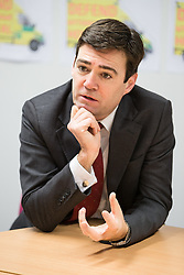 © Licensed to London News Pictures . 07/02/2014 . Wythenshawe , Manchester , UK .  ANDY BURNHAM , MP for Leigh and Shadow Secretary of State for Health , joins Labour candidate Mike Kane on the campaign trail , meeting NHS staff in Wythenshawe , ahead of the Wythenshawe and Sale East by-election , following the death of MP Paul Goggins .  . Photo credit : Joel Goodman/LNP