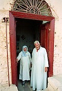 Egyptian people at their home in Luxor, Egypt