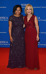 NBC News Correspondent Kristen Welker (L) and journalist Andrea Mitchell arrive for the White House Correspondents' Association (WHCA) dinner in Washington, D.C., on Saturday, April 29, 2017 (Photo by Riccardo Savi)  *** Please Use Credit from Credit Field ***