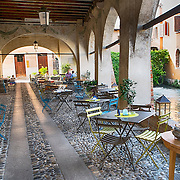 TREVISO, ITALY - AUGUST 24:  A general view of a traditional restaurant in Treviso seen on August 24, 2013 in Treviso, Italy. Treviso claims that Tiramisu was invented in the 1960s by Alba Campeol, the owner of the Restaurant called ÒAlle BeccherieÓ, who supposedly wanted to create a dessert that would give her an energy boost after the birth of her son.  (Photo by Marco Secchi/Getty Images)