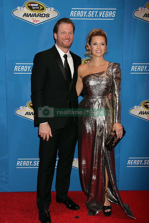 Dale Earnhardt Jr., Amy Reimann attending the 2016 NASCAR Sprint Cup Series Awards