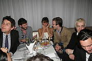 Jamie Dornan and Helena Christensen playing Bingo. An Evening At Sanderson,  Sanderson Hotel, 50 Berners Street, London, W1, Charity reception now in its seventh year raising money for CLIC Sargent.15 May 2007. -DO NOT ARCHIVE-© Copyright Photograph by Dafydd Jones. 248 Clapham Rd. London SW9 0PZ. Tel 0207 820 0771. www.dafjones.com.