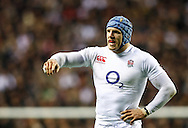 Picture by Andrew Tobin/SLIK images +44 7710 761829. 2nd December 2012. James Haskell looks on during the QBE Internationals match between England and the New Zealand All Blacks at Twickenham Stadium, London, England. England won the game 38-21.