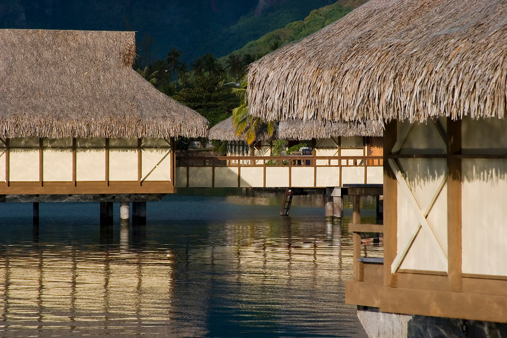 Overwater Bungalows, Moorea, Society Islands, South Pacific
