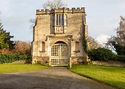 Spye Arch, Tudor gatehouse to Spye Park, Bromham, Wiltshire, England, UK