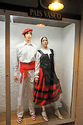 Display of traditional Spanish clothes from Pais Vasco