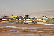 Israel, Sdom, The Dead Sea Works LTD. Israeli potash plant on the shore of the Dead Sea