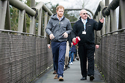 © Licensed to London News Pictures. 05/02/2016. St Michael on Wyre UK. His Royal Highness Prince Harry visited the village of St Michael on Wyre today to see the impact that flooding has had on the community and learn about the efforts that are being undertaken to help the village recover & rebuild. Photo credit: Andrew McCaren/LNP