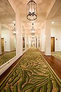 Hallway in Moana hotel in Waikiki, Hawaii