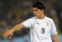 Fotball<br /> VM 2010<br /> 16.06.2010<br /> Sør Afrika v Uruguay<br /> Foto: Insidefoto/Digitalsport<br /> NORWAY ONLY<br /> <br /> Luis Suarez (Uruguay)