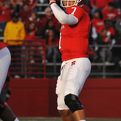 Oct 10, 2009; Piscataway, NJ, USA; Rutgers quarterback Tom Savage (7) throws a pass during second half NCAA college football action in Rutgers' 42-0 victory over Texas Southern at Rutgers Stadium.