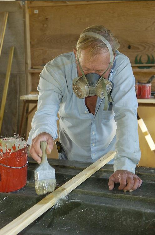 07DEC04:  Stoner Boat Works in Flour Bluff, Texas where veteran boat builder Robert Stoner works on another custom hull.  <br /> ©Bob Daemmrich/