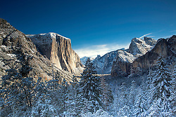Yosemite Valley after a new autumn snow