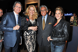Left to right, WARWICK HEMSLEY, JERRY HALL, SIR DAVID TANG and  TRACEY EMIN at the Lighthouse Gala Auction in aid of The Terrence Higgins Trust held at Christie's, 8 King Street, St.James' London on 19th March 2012.