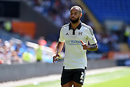 Ashley Richards of Fulham looks on. Skybet football league championship match, Cardiff city v Fulham at the Cardiff city stadium in Cardiff, South Wales on Saturday 8th August  2015.<br /> pic by Andrew Orchard, Andrew Orchard sports photography.