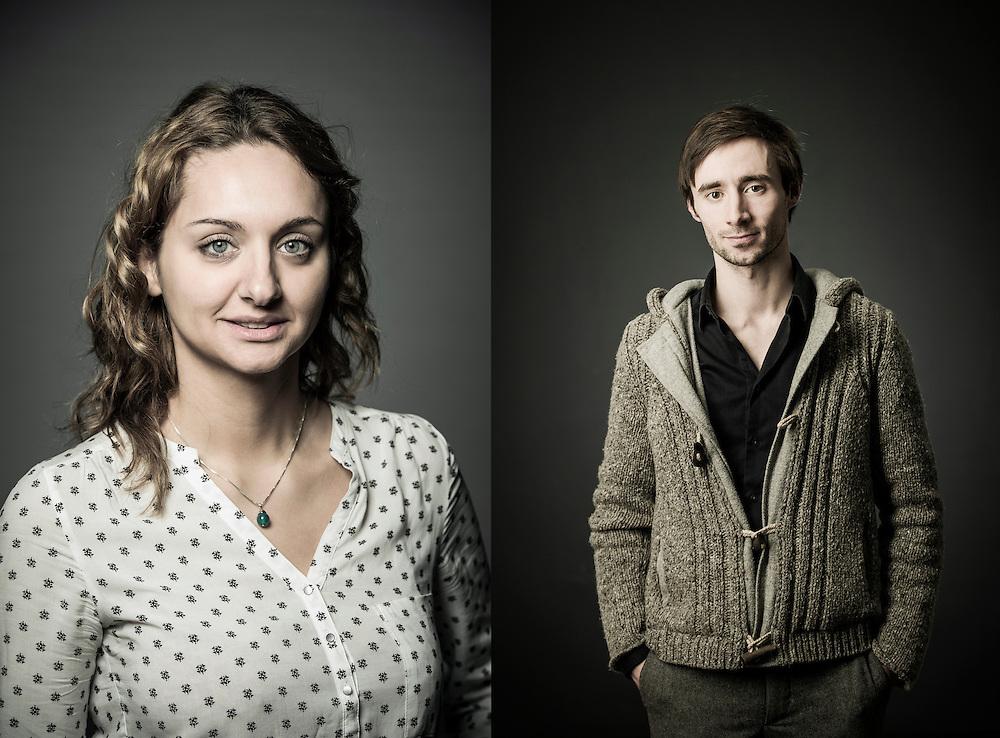 Leuven, Belgium 10 February 2014<br /> Scientists Joanna Zmurko and Stijn Vercammen.<br /> Photo: Ezequiel Scagnetti